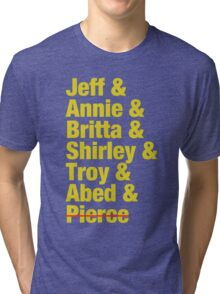 Community Jeff & Annie & Britta & Shirley & Troy & Abed & Pierce Shirt Tri-blend T-Shirt