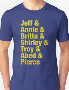 Community Jeff & Annie & Britta & Shirley & Troy & Abed & Pierce Shirt T-Shirt