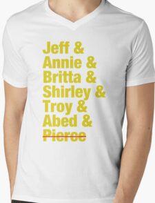 Community Jeff & Annie & Britta & Shirley & Troy & Abed & Pierce Shirt Mens V-Neck T-Shirt