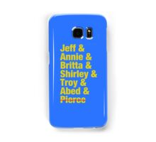 Community Jeff & Annie & Britta & Shirley & Troy & Abed & Pierce Shirt Samsung Galaxy Case/Skin