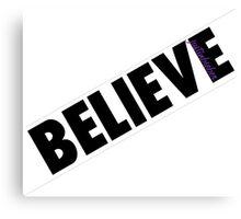 Justin Bieber Believe Canvas Print