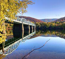 Arch Street Bridge In Autumn by Gene Walls