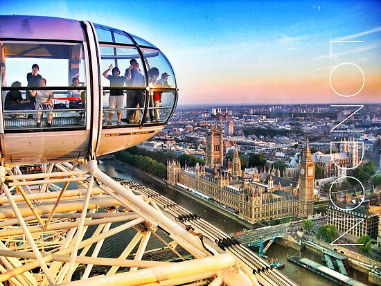 The View from London Eye by Ludwig Wagner