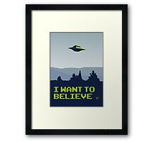 My X-files: I want to believe poster Framed Print