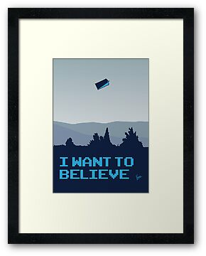 My I want to believe minimal poster- Tradis / Dr Who by Chungkong