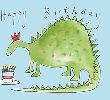 Dinosaur Birthday  by AndyLanhamArt