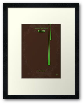 No004 My Alien minimal movie poster by Chungkong