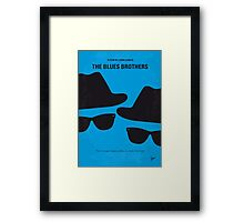 No012 My Blues brothers minimal movie poster Framed Print