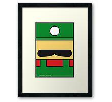 MY LUIGI MARIO BROS MINIMAL POSTER Framed Print
