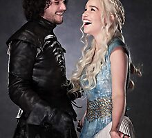 Jon and Daenerys by wickedarian