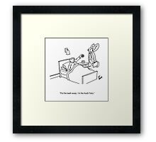 Audit Fairy Cartoon Framed Print