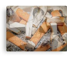 Cigarette chaos. Canvas Print