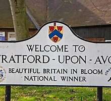 Welcome to Stratford Upon Avon sign by Keith Larby