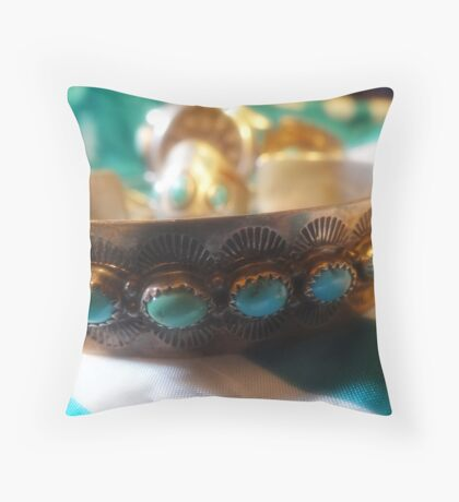 Turquois Throw Pillow