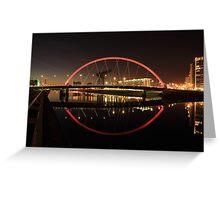Glasgow Clyde Arc Bridge Greeting Card