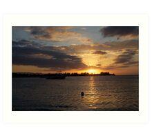 Sunset Jamaica Art Print