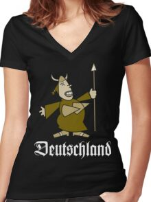 Deutschland Women's Fitted V-Neck T-Shirt