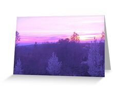 Purple and Pink Spring Sunset Greeting Card