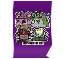 Lil Rocksteady and Bebop Poster