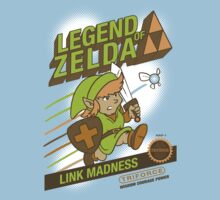 Legend of Zelda - Mario 2 Box Art - Style Kids Tee