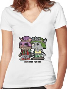 Lil Rocksteady and Bebop Women's Fitted V-Neck T-Shirt