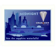 Visit Beautiful Midnight! Art Print