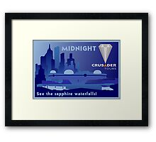 Visit Beautiful Midnight! Framed Print