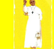 Pope Francis iphone & ipod case by MURRAY BROUGH