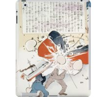 The Japanese torpedo boat delivers a knock out blow to Russian man of war 001 iPad Case/Skin