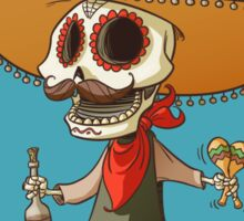 The Mexican Party Skull! Sticker