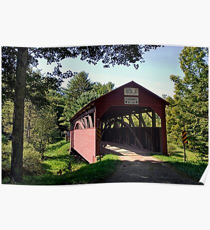 Approaching The Buckhorn Covered Bridge From The Far Side Poster