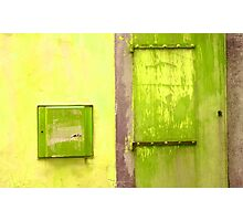Door & Wall-series (yellow & green) Photographic Print
