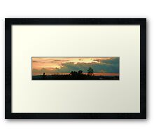 Golden Sunset with Clouds Framed Print