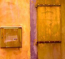 Door & Wall-series(orange & violet) by Tamarra