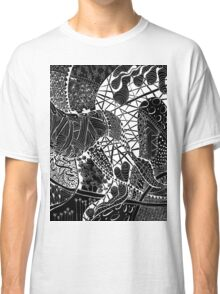 Zen doodle spiritual abstract art Classic T-Shirt
