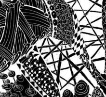 Zen doodle spiritual abstract art Sticker