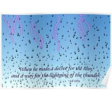 He Made A Decree for the Rain Poster