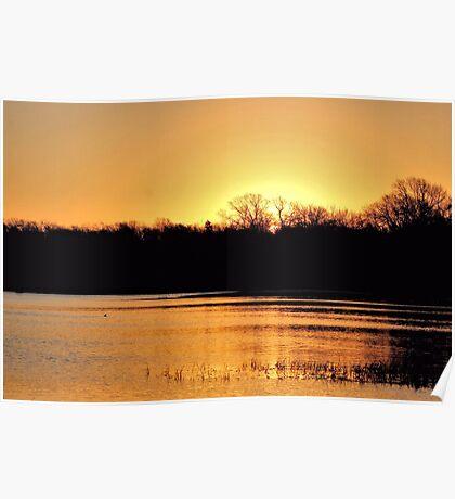 Sunrise Over Lake Pickens Poster