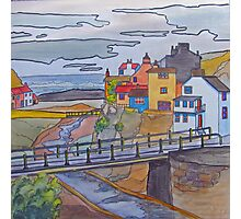 Staithes - from the hillside Photographic Print