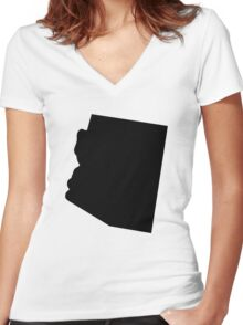 American State of Arizona Women's Fitted V-Neck T-Shirt