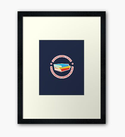 So Many Books To Read... Framed Print