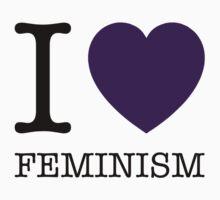 I LOVE FEMINISM Baby Tee