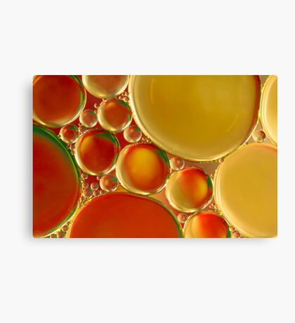 Orange and gold Canvas Print