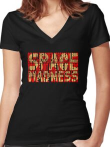 SpAcE mAdNeSs Women's Fitted V-Neck T-Shirt