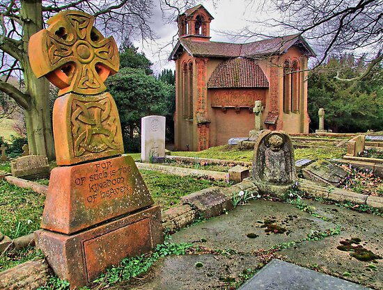 The Watts Mortuary Chapel - Compton Surrey - HDR by Colin J Williams Photography