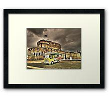 Gelateria: Castel Sant'Angelo, Rome (HDR) Framed Print