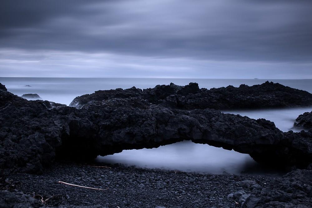 ghostly beach by JorunnSjofn Gudlaugsdottir