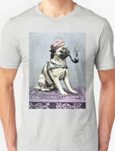 Pug Dog with Hat and Pipe Unisex T-Shirt