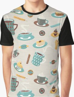 Morning Coffee Pattern  Graphic T-Shirt