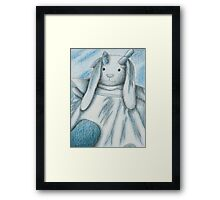 Blue Bunny Rabbit Framed Print